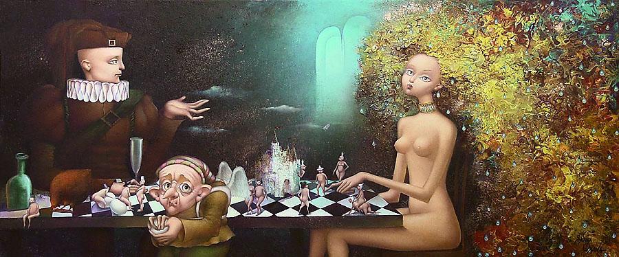 Oxana Yambykh, 'Evening Game'