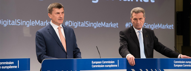 Andrus Ansip e Gunther Oettinger - EU Digital Single Market