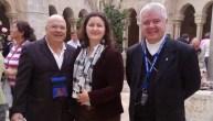 Betleem, noiembrie 2013 - E.S. Mons. Anton Coșa Episcop de Chişinău, Republica Moldova, alături de Contesa Simona Cecilia și Contele Fernando Crociani Baglioni.
