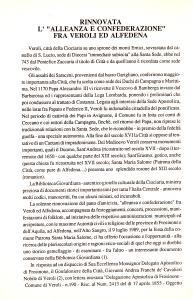 Articolo del Conte Prof. Fernando Crociani Baglioni in Rivista Araldica del 1989 / 1