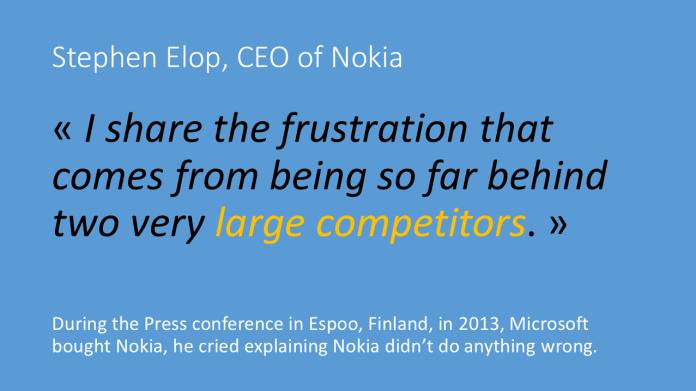 Digital Transformation is everywhere - Même les grandes compagnies sont touchées - Le cas de Nokia.