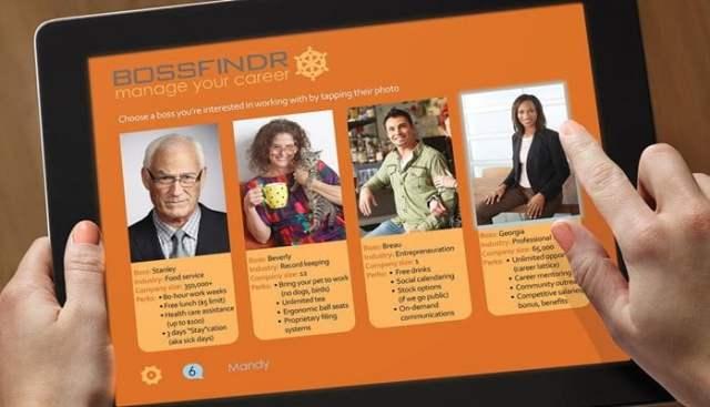 Exemple de consumérisation RH présentée par Josh Bersin - Deloitte - BossFinder. Choisissez le patron qui vous convient.