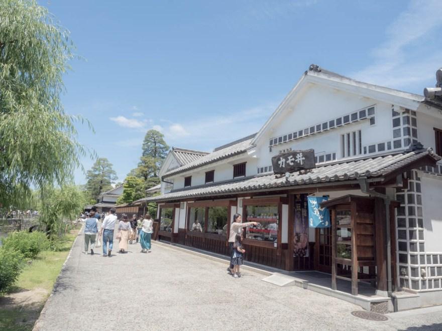 倉敷美観地区 倉敷川畔(カモ井前)