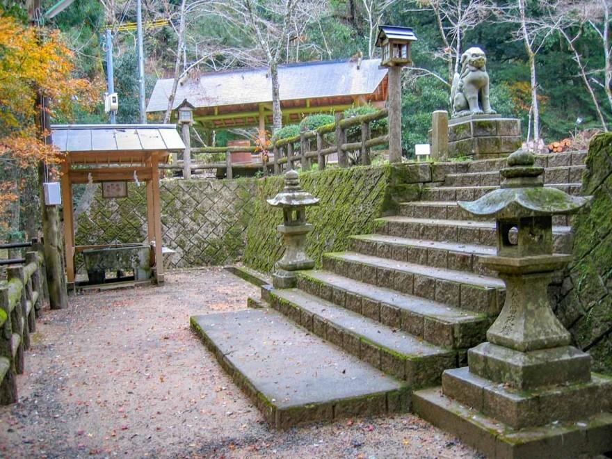 天石門別神社 社殿への入口