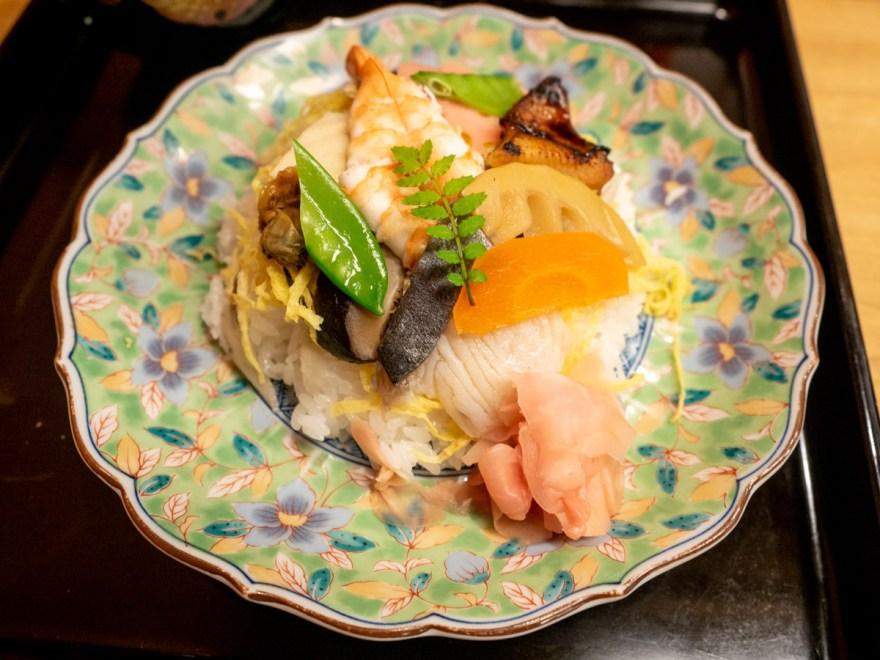 ばら寿司が食べられる店:しば田のばら寿司
