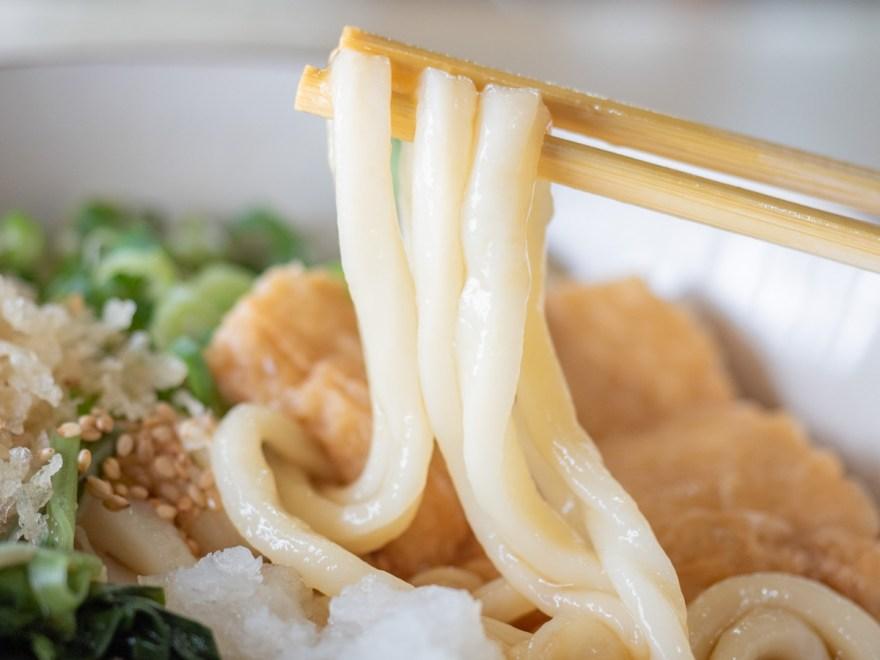 あかぎ:ぶっかけうどん(冷)の麺