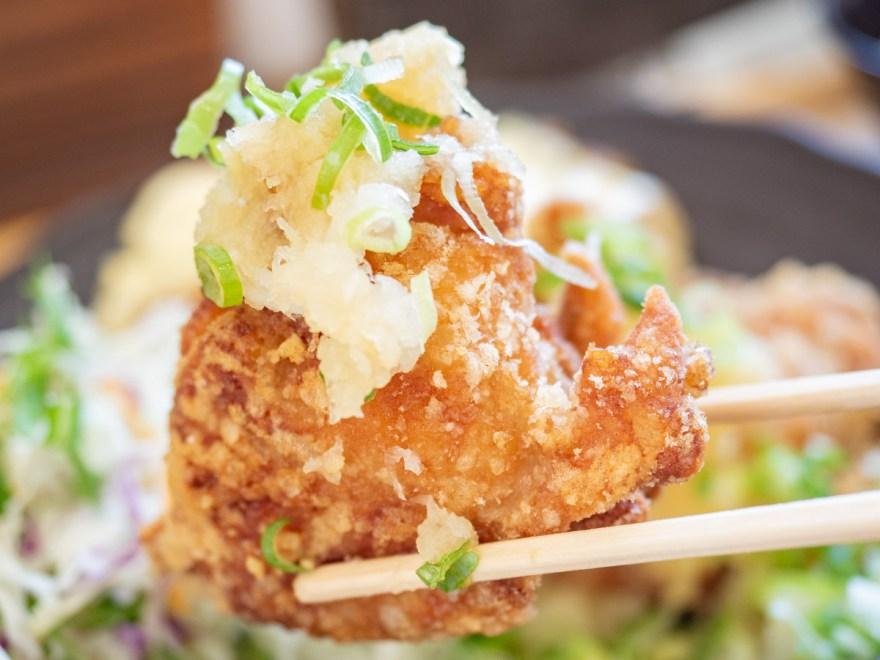 日鶏ひとり:半々定食のおろしポン酢
