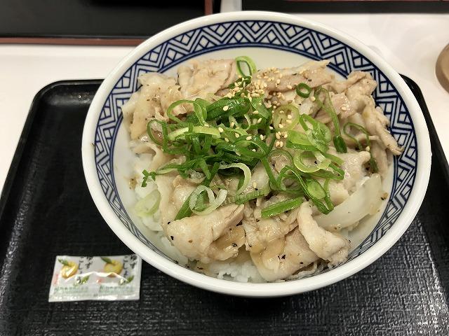 吉野家_ネギ塩豚丼
