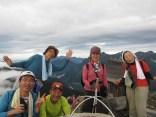 常念岳登頂(2班)