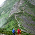 小蓮華岳に向かう稜線