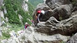 クレイムハイストで確保しながら登ります