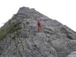 Ⅱ峰からの懸垂下降