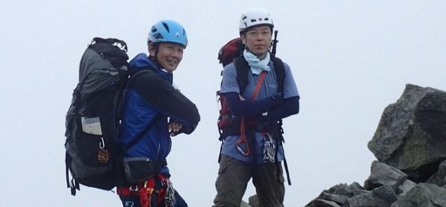 奥穂の登山者