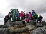 頂上で記念写真