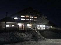 八方池山荘の夜景