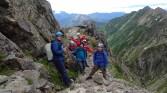 南稜の頭で記念写真