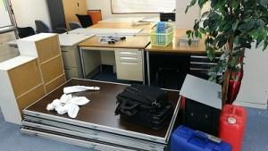 水戸市で事務所、オフィス家具の処分、スチールデスクなど、不用品回収