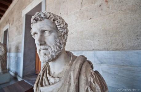 Statue at the Stoa of Attalos