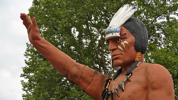 Cherokee North Carolina Muffler Man Indian