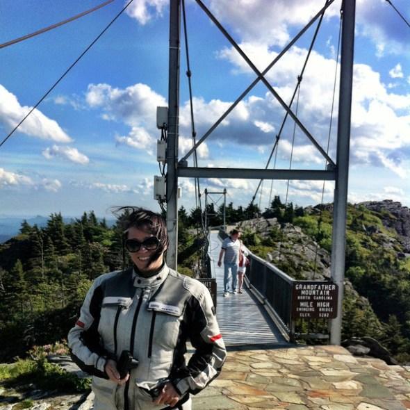 At the Mile High Swinging Bridge