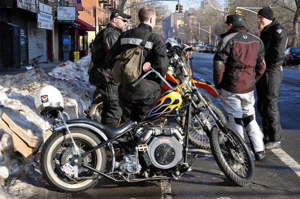 Biodiesel Chopper Spotted in New York City Wingnut Cycles