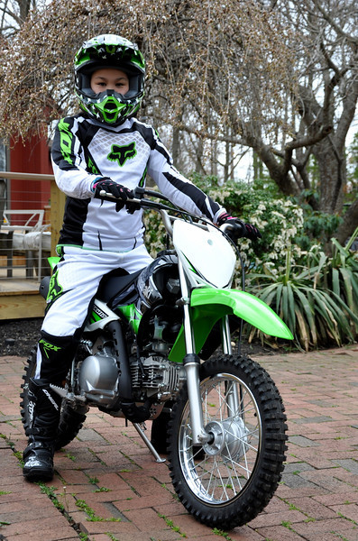 Chloe and her KLX