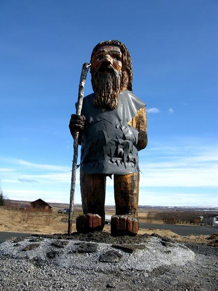 Traveler Statue - Geysir Iceland