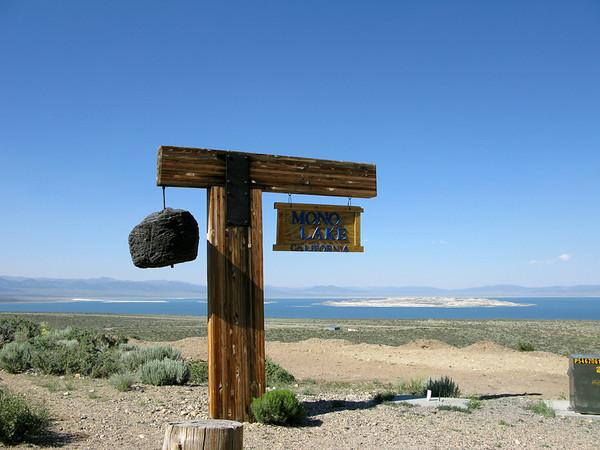 Mono Lake Sign