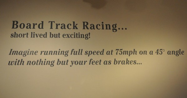 Board Track Racing Sign - Barber Museum