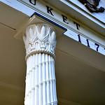 Cornstalk capital column Setauket Post Office