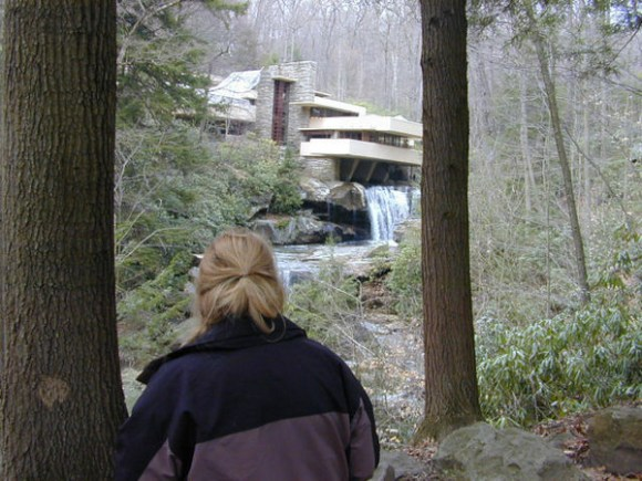 Wendyvee at Frank Lloyd Wright's Fallingwater