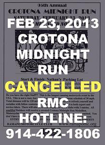 2013 Crotona Midnight Run Cancelled