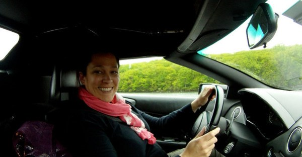 My big cheesy smile in the Murcielago LP640 Roadster