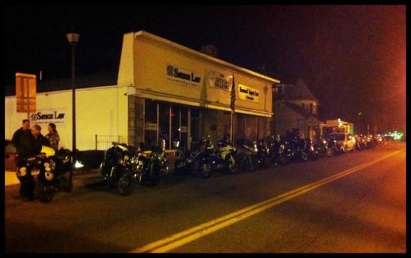 Bikes at the Carmel Diner