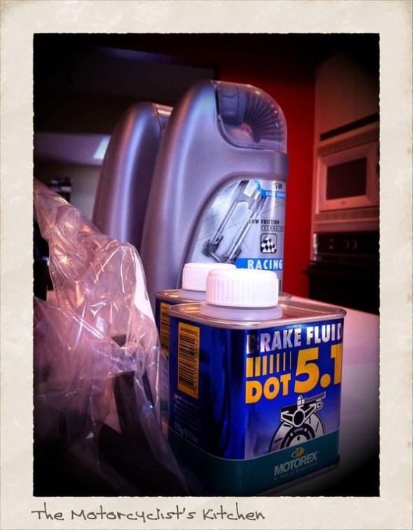 Fork oil, fork seals, brake fluid