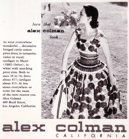 1970s Alex Colman Purple House Print Blouse
