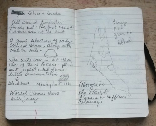 Some of my notes from the Halston & Warhol exhibition