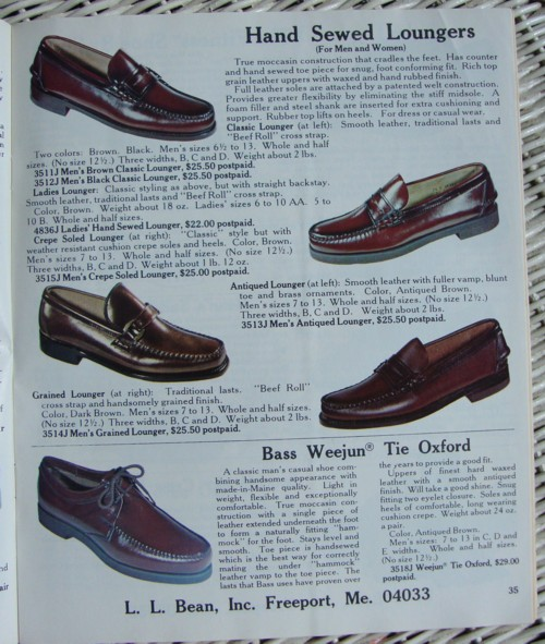 3991c8c95c5 This is a page from the 1977 L.L. Bean catalog. As you can see