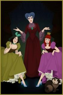 Evil Stepmother and Stepsisters, Cinderella