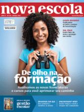 Capa de NOVA ESCOLA de março de 2016, já com caderno da revista GESTÃO ESCOLAR.