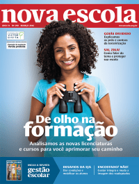 March 2016 cover of NOVA ESCOLA, featuring the GESTÃO ESCOLAR booklet
