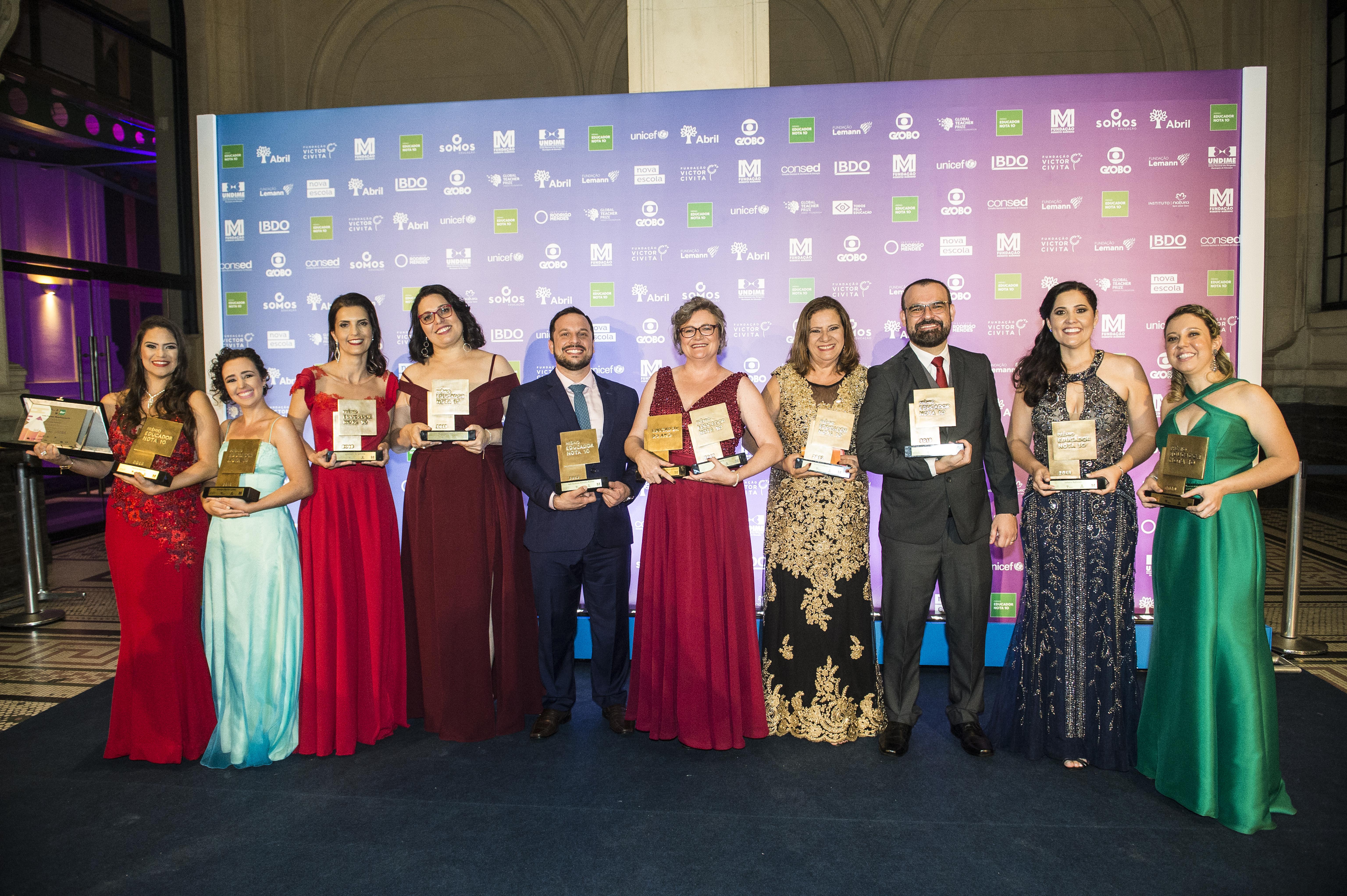 Conheça os 10 Vencedores do Prêmio Educador Nota 10