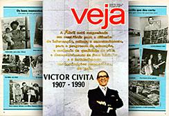 Capa da revista Veja publicada logo após a morte de Victor Civita. A reportagem apresentava o legado do empresário