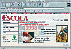 In the photo, a historical record of the first NOVA ESCOLA website