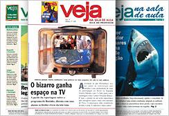 Primeiros exemplares de VEJA na Sala de Aula, publicação que une as reportagens informativas da revista aos conteúdos curriculares do Ensino Médio
