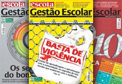 Primeiras capas da revista GESTÃO ESCOLAR, voltada para coordenadores pedagógicos e diretores escolares