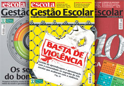 The first covers of the GESTÃO ESCOLAR magazine, focused on curriculum coordinators and school principals