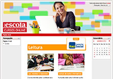The home page of the online Reading courses, sponsored by Fundação Itaú Social