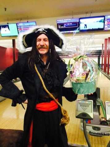 """Charles Buettner wins the """"Most Creative Costume"""" prize."""