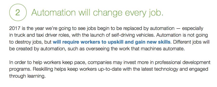 Job Market Trends 2017 tech